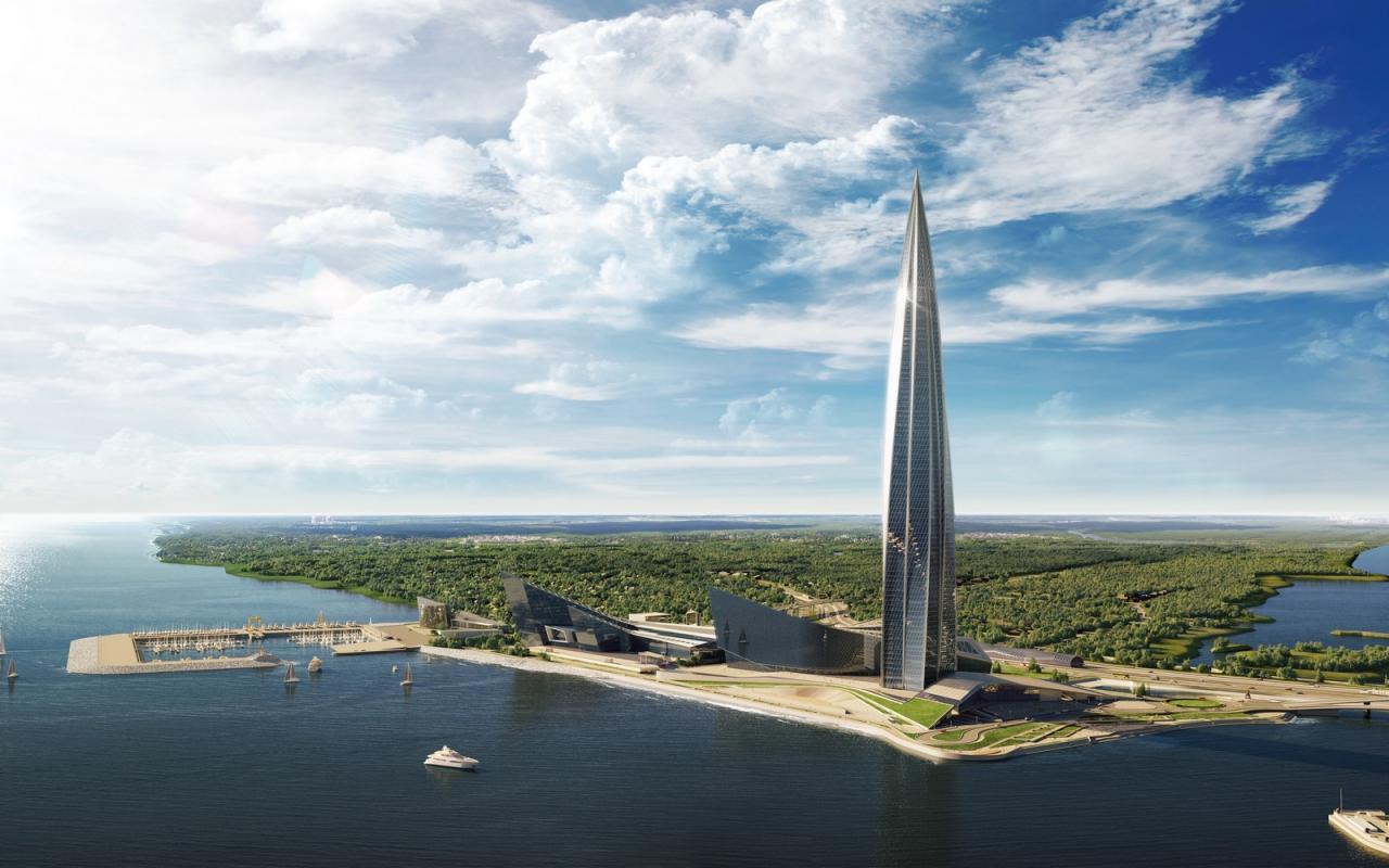 Как выглядит будущая штаб квартира Газпром?